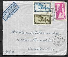 Indochine Lettre Par Avion  Du 05  02  1946 D' Hanoi^ Vers Constantine  En Algérie - Indochine (1889-1945)