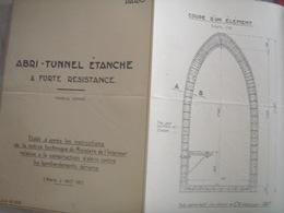ABRI TUNNNEL ETANCHE A FORTE RESISTANCE/ CONTRE BOMBARDEMENTS AERIENS  /¨PARIS S.A.N.C.A - Public Works