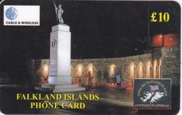 TARJETA DE FALKLAND ISLANDS DEL LIBERATION MONUMENT - Falkland Islands