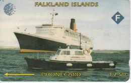 TARJETA DE LAS FALKLAND ISLANDS DE UN BARCO (SHIP) 3CWFA - Falkland Islands