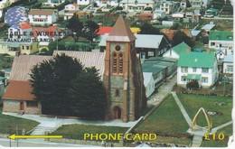 TARJETA DE LAS ISLAS FALKLAND - MALVINAS DE CHRIST CHURCH CATHEDRAL STANLEY  133CFKA - Falkland Islands