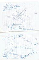 ITALY - AUTOGRAFI CORRIDORI GIRO DI SARDEGNA 1958 - TAPPA ALGHERO  - ORIGINALE SU AGENDA  - 9 IDENTIFICATI + 5 SENZA IDE - Autographes