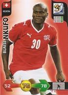 CARTE PANINI ADRENALYN COUPE DU MONDE FIFA  AFRIQUE DU SUD 2010 SUISSE BLAISE NKUFO - Trading Cards