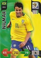 CARTE PANINI ADRENALYN COUPE DU MONDE FIFA  AFRIQUE DU SUD 2010 BRESIL NILMAR - Trading Cards