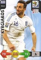 CARTE PANINI ADRENALYN COUPE DU MONDE FIFA  AFRIQUE DU SUD 2010 GRECE SOTIRIOS KYRGIAKOS - Trading Cards