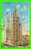 CHICAGO, IL - THE NEW TRIBUNE TOWER  BUILDING - TRAVEL IN 1951 -  THE J. O. STOLL CO - - Chicago