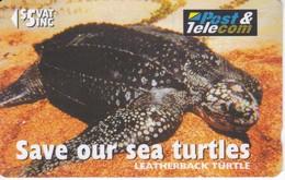 TARJETA DE FIJI DE UNA TORTUGA  (TORTUE-TURTLE) - Fiji