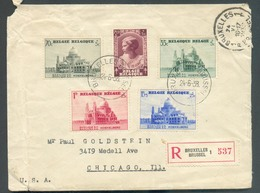 Lettre Recommandée Affr. Basilique De KOEKELBERG  Du 24-6-1938 Vers Chicago (USA).  - 13376 - Belgium