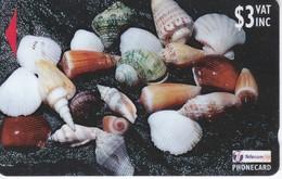 TARJETA DE FIJI DE $3 DE UNAS CARACOLAS  (SHEA SHELL) 25FJB - Fiji