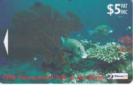 TARJETA DE FIJI DE PECES Y CORALES (MARINE LIFE- PEZ-FISH) 24FJC - Fiji