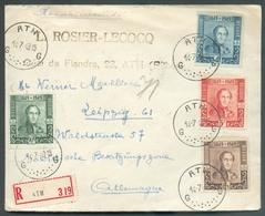 Lettre Affr. Série EPAULETTES Obl. Sc ATH En Recommandé Le 14-7-1949 Vers L'Allemagne  - 13381 - Neufs