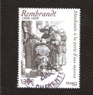 TIMBRE . OBLITERATION RONDE.......N° 3984.  REMBRANDT....TBE ..COTE 1€40 - Francia