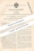 Original Patent - Dr. Eugen & Dr. Max Schaal , Stuttgart / Feuerbach , 1900 , Ersatz Für Harte Harze Aus Colophonium !! - Historische Dokumente