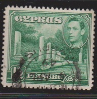 CYPRUS Scott # 144 Used - KGVI & Salamis Ruins - Cyprus (...-1960)