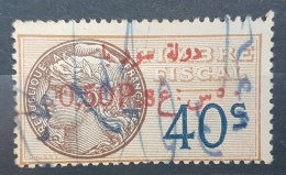 BB2 #2 - Syria 1929 Fiscal Revenue Stamp 0,50p On 40c (Red Ovpt) - Syria