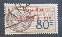 BB2 #3 - Syria 1929 Fiscal Revenue Stamp 2,50p On 80c (Red Ovpt) - Syria