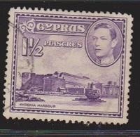 CYPRUS Scott # 147A Used - KGVI & Kyrenia Harbour - Cyprus (...-1960)