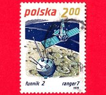 POLONIA - POLSKA - Usato - 1979 - Viaggi Nello Spazio - Successi Spaziali - Lunik 2 E Ranger 7 - 2.00 - 1944-.... Republic