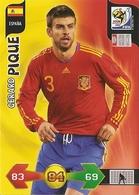 CARTE PANINI ADRENALYN COUPE DU MONDE FIFA  AFRIQUE DU SUD 2010 ESPAGNE GERARD PIQUE - Trading Cards