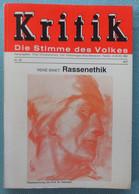 Kritik - Die Stimme Des Volkes - Rassenethik - René Binet - 1977 - Politics & Defense