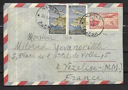 Yougoslavie  Lettre De Cacak ( Serbie )  Le 25  05 1951  Vers Vézelise  54 - Covers & Documents