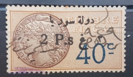 BB2 #14 - Syria 1929 Fiscal Revenue Stamp 2p On 40c (Black Ovpt) - Syria