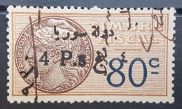 BB2 #15 - Syria 1929 Fiscal Revenue Stamp 4p On 80c (Black Ovpt) - Syria