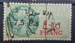 BB2 #16 - Syria 1929 Fiscal Revenue Stamp 7,50p On 1,50f (Black Ovpt) - Syria