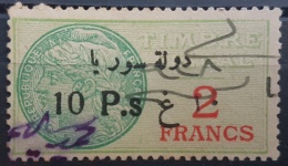 BB2 #17 - Syria 1929 Fiscal Revenue Stamp 10p On 2f (Black Ovpt) - Syria