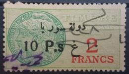 BB2 #17 - Syria 1929 Fiscal Revenue Stamp 10p On 2f (Black Ovpt) - Syrië