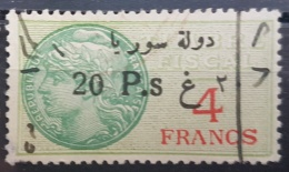 BB2 #19 - Syria 1929 Fiscal Revenue Stamp 20p On 4f (Black Ovpt) - Syrië