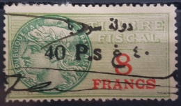 BB2 #23 - Syria 1929 Fiscal Revenue Stamp 40p On 8f (Black Ovpt) - Syria