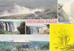 Postcard Zimbabwe Victoria Falls Multiview My Ref  B23039 - Zimbabwe
