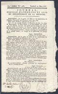 Rare Journal Du 14 Mars 1815 Racontant Le Début Des Cents Jours Et Le Retour De L'empereur Napoléon I Er - 1800 - 1849
