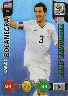 CARTE PANINI ADRENALYN COUPE DU MONDE FIFA  AFRIQUE DU SUD 2010 ETATS UNIS CARLOS BOCANEGRA - Trading Cards