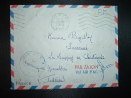 LETTRE OBL.MEC.29-10 1956 FORT DE L'EAU ALGER + 636e Cie V H F Le Vaguemestre - Marcophilie (Lettres)