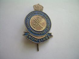 Ancienne EPINGLE Du ROYAL CALCUTTA Club.. BOWLING - Bowling