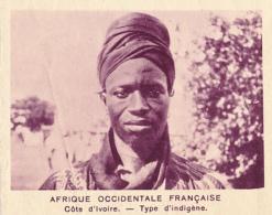 Chromo, Image, Vignette : Afrique Occidentale Française, Côte D'Ivoire, Type Indigène (6 Cm Sur 7 Cm) - Unclassified