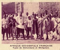 Chromo, Image, Vignette : Afrique Occidentale Française, Types De Dahoméens Et Sénégalais (6 Cm Sur 7 Cm) - Unclassified