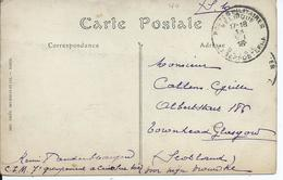 Zichtkaart LE TREPORT Verstuurd Met LP Zonder Nr. Van C.I.M. Criel Sur Mer - Oorlog 14-18