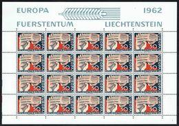 LICHTENSTEIN - EUROPA 1962 - Y/T N° 366 En Feuille ** De 20 EA - Europa-CEPT