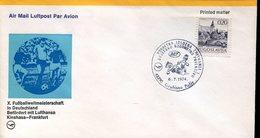 38047 Jugoslavia Special Cover And Postmark Grubisno Polje , Football, World Cup Germany 1974 - Coppa Del Mondo