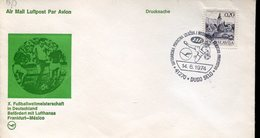 38048 Jugoslavia Special Cover And Postmark Dugo Selo  1974 , Football, World Cup Germany 1974 - Coppa Del Mondo