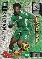 CARTE PANINI ADRENALYN COUPE DU MONDE FIFA AFRIQUE DU SUD 2010 NIGERIA OBAFEMI MARTINS - Trading Cards