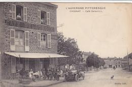 Chignat,café Delacroix,voiture,central Garage - Autres Communes