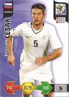 CARTE PANINI ADRENALYN COUPE DU MONDE FIFA AFRIQUE DU SUD 2010 SLOVENIE  BOSTJAN CESAR - Trading Cards