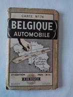 """Ancienne Carte Routière """" Belgique Automobile """"  Dans Son Jus ...... L 29 . - Cartes Routières"""
