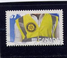 Canada 2010, Used # 2394, ROTARY CLUB  SINGLE - 1952-.... Règne D'Elizabeth II