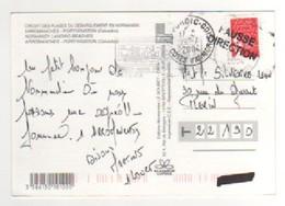 Timbre , Stamp  Sur CP , Carte , Postcard Du 24/07/2004 De Arromanches , Belle Griffe Fausse Direction De Pordic 22 - Briefe U. Dokumente