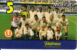 PERU - Universitario FC, Movifacil By Telefonica Prepaid Card US$5, Used - Sport